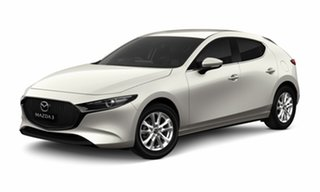 2021 Mazda 3 BP G20 Pure Snowflake White Pearl 6 Speed Manual Hatchback