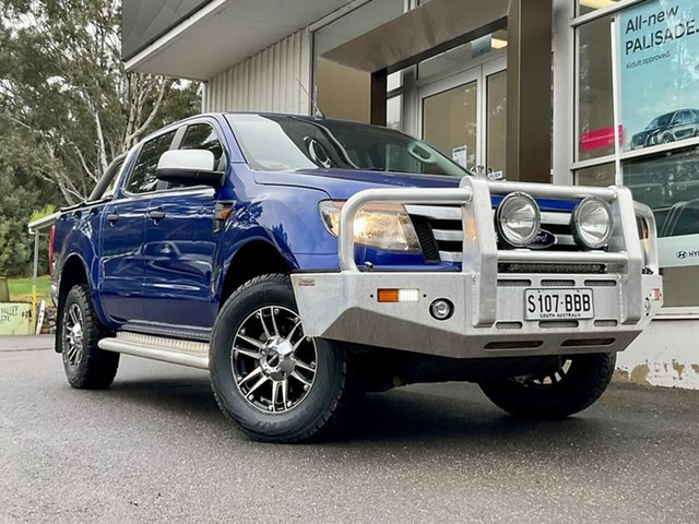 Used Ford Ranger PX XLS Double Cab Clare, 2014 Ford Ranger PX XLS Double Cab Blue 6 Speed Manual Utility