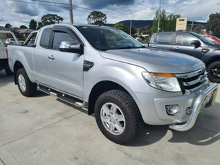 2012 Ford Ranger PX XLT Super Cab Silver 6 Speed Sports Automatic Utility.