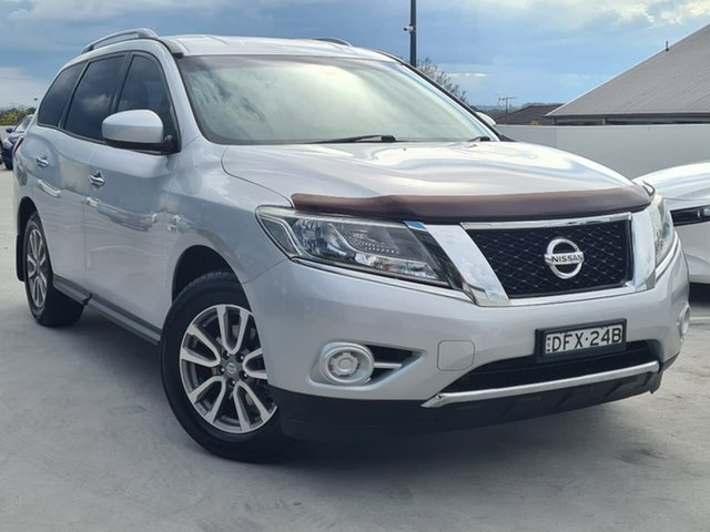 Used Nissan Pathfinder R52 MY14 ST X-tronic 4WD Liverpool, 2014 Nissan Pathfinder R52 MY14 ST X-tronic 4WD Silver 1 Speed Constant Variable Wagon