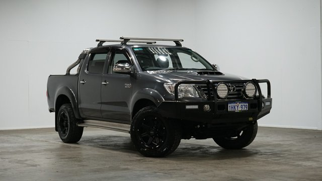 Used Toyota Hilux KUN26R MY14 SR5 Double Cab Welshpool, 2014 Toyota Hilux KUN26R MY14 SR5 Double Cab Grey 5 Speed Automatic Utility