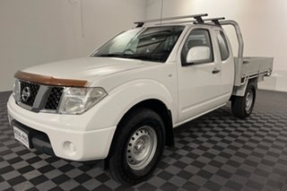 2012 Nissan Navara D40 S7 MY12 RX King Cab White 6 speed Manual Cab Chassis