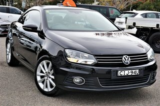2011 Volkswagen EOS 1F MY11 155TSI DSG Black 6 Speed Sports Automatic Dual Clutch Convertible.