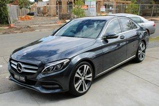 2015 Mercedes-Benz C-Class W205 C200 7G-Tronic + Grey 7 Speed Sports Automatic Sedan.