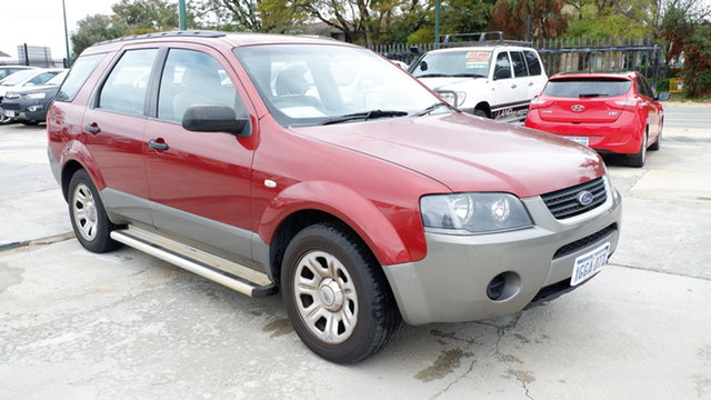 Used Ford Territory SX TX St James, 2004 Ford Territory SX TX Red 4 Speed Sports Automatic Wagon