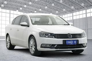2014 Volkswagen Passat Type 3C MY14.5 130TDI DSG Highline Candy White 6 Speed.