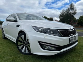 2012 Kia Optima TF MY13 Platinum White 6 Speed Sports Automatic Sedan.