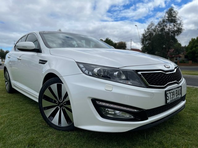 Used Kia Optima TF MY13 Platinum Hindmarsh, 2012 Kia Optima TF MY13 Platinum White 6 Speed Sports Automatic Sedan