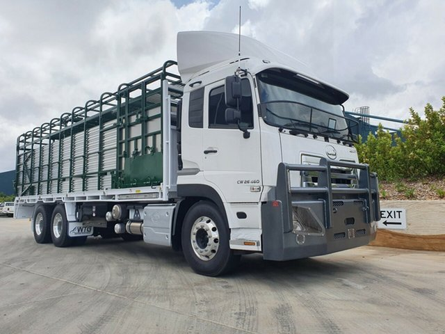 New UD Truck Harristown, 2021 UD Quon Quon Quon Truck White and Green Stock/Cattle crate