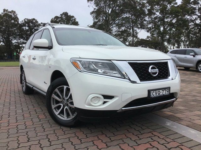Pre-Owned Nissan Pathfinder R52 MY14 ST X-tronic 2WD Warwick Farm, 2014 Nissan Pathfinder R52 MY14 ST X-tronic 2WD White 1 Speed Constant Variable SUV Hybrid
