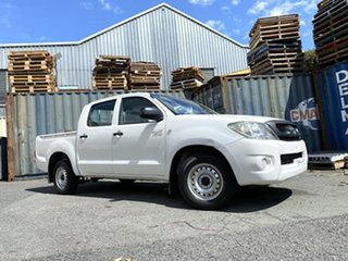 2011 Toyota Hilux GGN15R MY10 SR 4x2 White 5 Speed Automatic Utility.
