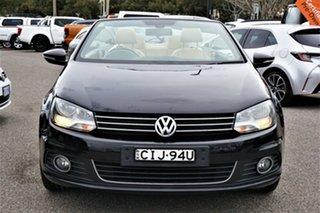 2011 Volkswagen EOS 1F MY11 155TSI DSG Black 6 Speed Sports Automatic Dual Clutch Convertible