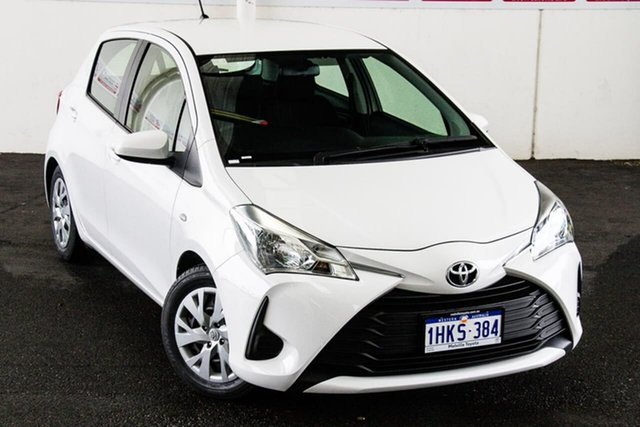 Pre-Owned Toyota Yaris NCP130R MY17 Ascent Myaree, 2018 Toyota Yaris NCP130R MY17 Ascent Glacier White 4 Speed Automatic Hatchback