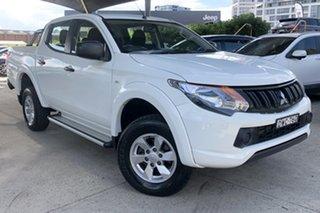 2018 Mitsubishi Triton MQ MY18 GLX (4x4) White 5 Speed Automatic Dual Cab Utility.