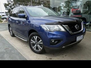 2017 Nissan Pathfinder R52 MY17 Series 2 ST-L (4x2) Caspian Blue Continuous Variable Wagon.