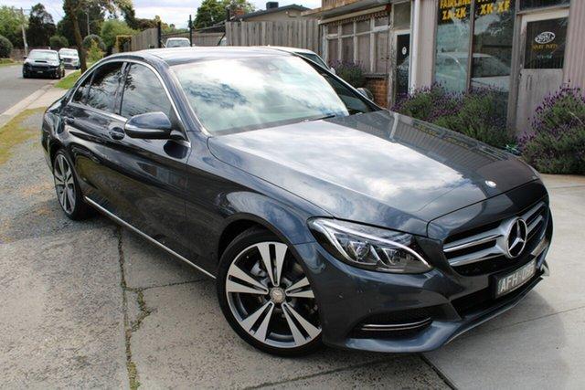 Used Mercedes-Benz C-Class W205 C200 7G-Tronic + Ferntree Gully, 2015 Mercedes-Benz C-Class W205 C200 7G-Tronic + Grey 7 Speed Sports Automatic Sedan