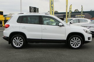 2015 Volkswagen Tiguan 5N MY15 132TSI DSG 4MOTION Pure White 7 Speed Sports Automatic Dual Clutch