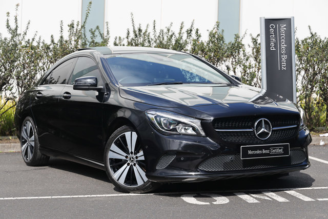 Certified Pre-Owned Mercedes-Benz CLA-Class C117 808MY CLA200 DCT Mulgrave, 2017 Mercedes-Benz CLA-Class C117 808MY CLA200 DCT Night Black 7 Speed Sports Automatic Dual Clutch