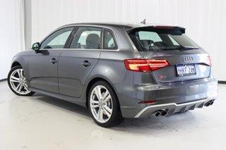 2018 Audi S3 8V MY18 Sportback S Tronic Quattro Grey 7 Speed Sports Automatic Dual Clutch Hatchback.