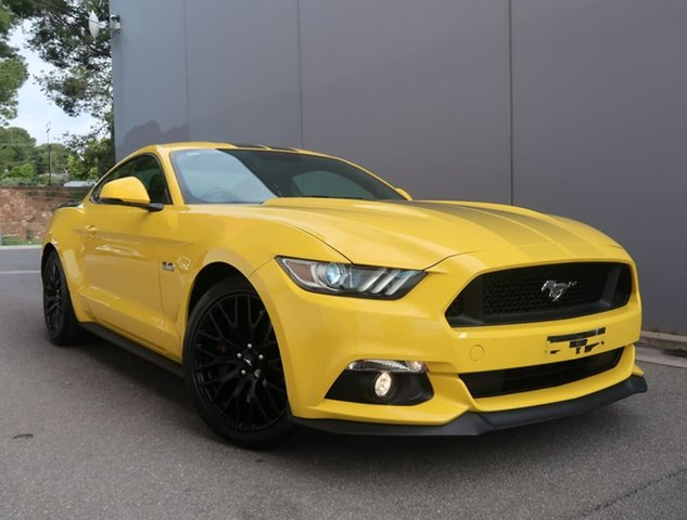Used Ford Mustang FM GT Fastback Reynella, 2015 Ford Mustang FM GT Fastback Yellow 6 Speed Manual Fastback