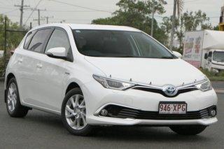 2017 Toyota Corolla ZWE186R Hybrid E-CVT Glacier White 1 Speed Constant Variable Hatchback Hybrid.