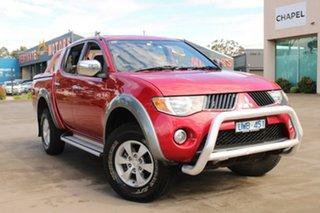 2007 Mitsubishi Triton ML GLX-R (4x4) Red 4 Speed Automatic 4x4 Double Cab Utility.