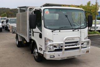 2016 Isuzu NPR White Manual Truck.