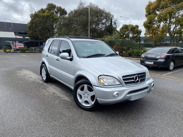Used Mercedes-Benz M-Class W163 ML55 AMG Mile End, 2001 Mercedes-Benz M-Class W163 ML55 AMG Silver 5 Speed Sports Automatic Wagon