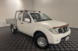 2012 Nissan Navara D40 S7 MY12 RX King Cab White 6 speed Manual Cab Chassis.