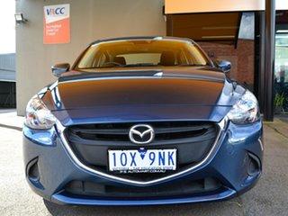 2018 Mazda 2 DL2SA6 Maxx SKYACTIV-MT Blue 6 Speed Manual Sedan