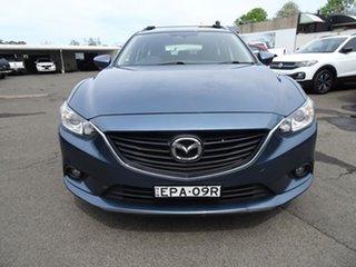 2014 Mazda 6 GJ1031 MY14 Sport SKYACTIV-Drive Steel Blue 6 Speed Automatic Wagon