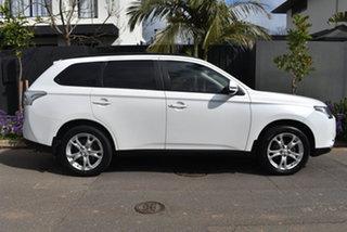 2013 Mitsubishi Outlander ZJ MY14 LS 4WD White 6 Speed Sports Automatic Wagon