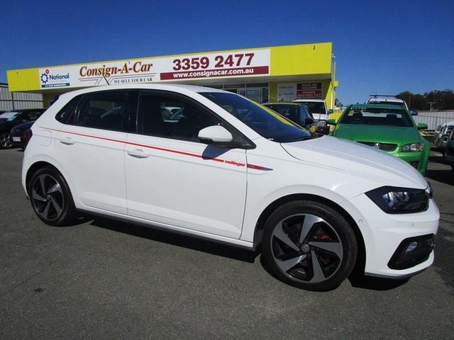 Used Volkswagen Polo AW MY19 GTI DSG Kedron, 2018 Volkswagen Polo AW MY19 GTI DSG White 6 Speed Sports Automatic Dual Clutch Hatchback