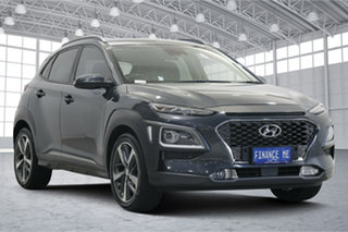 2017 Hyundai Kona OS MY18 Highlander 2WD Dark Knight 6 Speed Sports Automatic Wagon.
