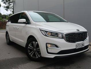 2019 Kia Carnival YP MY20 SLi White 8 Speed Sports Automatic Wagon.