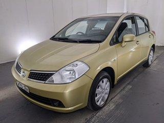 2006 Nissan Tiida C11 ST Yellow 4 Speed Automatic Hatchback.