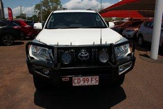 2015 Toyota Landcruiser Prado KDJ150R MY14 GXL Glacier White 5 Speed Automatic Wagon.