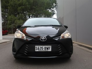2018 Toyota Yaris NCP130R Ascent Black 4 Speed Automatic Hatchback.