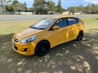 2016 Hyundai Accent RB3 MY16 Active Yellow 6 Speed Constant Variable Hatchback