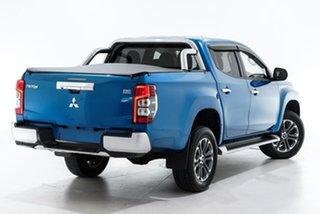 2018 Mitsubishi Triton MQ MY18 GLS Double Cab Blue 6 Speed Manual Utility.