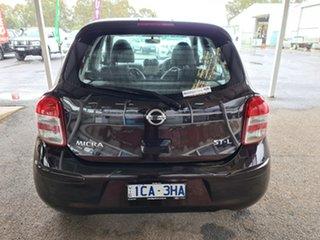 2013 Nissan Micra K13 MY13 ST-L Purple 4 Speed Automatic Hatchback.