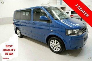 2012 Volkswagen Multivan T5 MY12 TDI400 DSG Comfortline Blue 7 Speed Sports Automatic Dual Clutch.