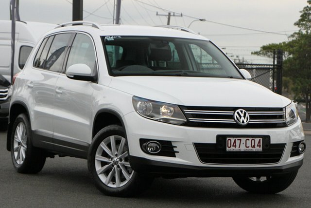 Used Volkswagen Tiguan 5N MY15 132TSI DSG 4MOTION Rocklea, 2015 Volkswagen Tiguan 5N MY15 132TSI DSG 4MOTION Pure White 7 Speed Sports Automatic Dual Clutch