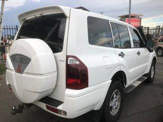 2005 Mitsubishi Pajero NP GLX LWB (4x4) White 5 Speed Auto Sports Mode Wagon.