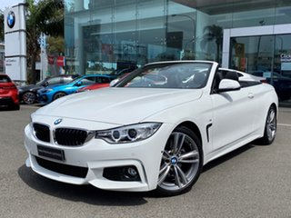 2016 BMW 430i F33 MY16.5 M Sport Alpine White 8 Speed Automatic Convertible.