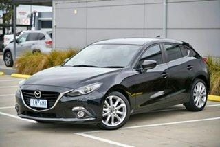 2015 Mazda 3 BM5438 SP25 SKYACTIV-Drive GT Black 6 Speed Sports Automatic Hatchback.