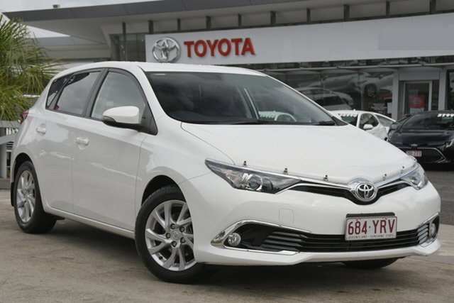 Pre-Owned Toyota Corolla ZRE182R Ascent Sport S-CVT North Lakes, 2016 Toyota Corolla ZRE182R Ascent Sport S-CVT Glacier White 7 Speed Constant Variable Hatchback