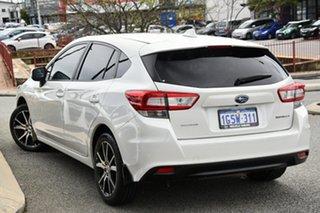 2019 Subaru Impreza G5 MY20 2.0i CVT AWD Crystal White Pearl 7 Speed Constant Variable Hatchback.