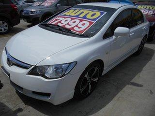 2008 Honda Civic 8th Gen MY08 VTi White 5 Speed Automatic Sedan.