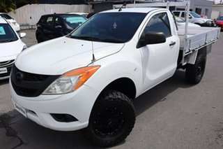 2012 Mazda BT-50 UP0YF1 XT White 6 Speed Manual Cab Chassis.